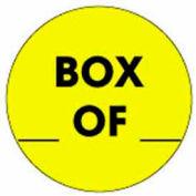 "Box Of 2"" Dia. - Yellow / Black"
