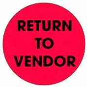"Return To Vendor 2"" Dia. - Fluorescent Red / Black"