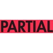 "Partial 2"" x 3"" - Fluorescent Red / Black"