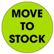 "Move To Stock 2"" Dia. - Fluorescent Green / Black"