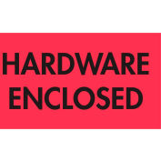 "Hardware Enclosed 2"" x 3"" - Fluorescent Red / Black"