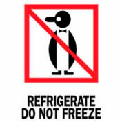 """Refrigerate Do Not Freeze 3"""" x 4"""" - White / Red / Black"""