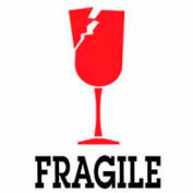 "Fragile 3"" x 4"" - White / Red / Black"