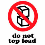 "Do Not Top Load 4"" x 6"" - White / Red / Black"