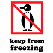 """Keep From Freezing 3"""" x 4"""" - White / Red / Black"""