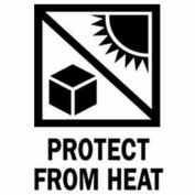 """Protect From Heat 3"""" x 4"""" - White / Red / Black"""
