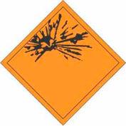 "Hazard Class 1 - Explosive 4"" x 4"" - Orange / Black"