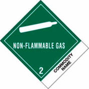 "Non-Flammable Gas Comp 4"" x 4-3/4"" - Green / White"