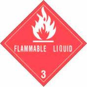 "Hazard Class 3 - Flammable Liquid 4"" x 4"" - White / Red"