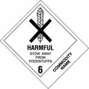 """Harmful Stow Away Poison 4"""" x 4-3/4"""" - White / Black"""