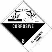 """Corrosive Liquid, Acidic, Inorganic NOS UN3264 4"""" x 4-3/4"""" - White /Black"""