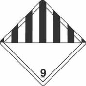 "Hazard Class 9 - 4"" x 4"" - White /Black"