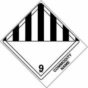 "Class 9 Consum Commodity 4"" x 4-3/4"" - White /Black"