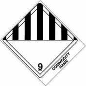 "Class 9 Consum Commodity 4"" x 4-3/4"" - White /Black"