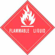"""Flammable Liquid 4"""" x 4"""" - Red / White"""