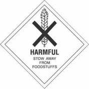 """Harmful Stow Away 4"""" x 4"""" - White / Black"""