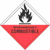 """Spontaneously Combustible 4"""" x 4"""" - White / Red / Black"""