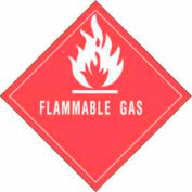 "Flammable Gas 4"" x 4"" - Red / White"