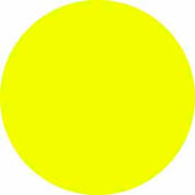 """Bright Yellow Discs 1"""" Dia."""