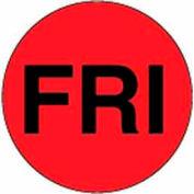 """Fri 2"""" Dia. - Fluorescent Red / Black"""