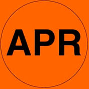 "Apr 2"" - Fluorescent Orange / Black"