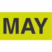 "May 3"" x 6"" - Fluorescent Green / Black"