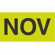 "Nov 3"" x 6"" - Fluorescent Green / Black"