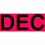 "Dec 2"" - Fluorescent Red / Black"