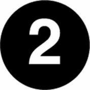 """3"""" Dia. Disc With #2 - Black / White"""