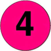 "3"" Dia. Disc With #4 - Fluorescent Pink / Black"
