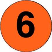 "3"" Dia. Disc With #6 - Fluorescent Orange / Black"