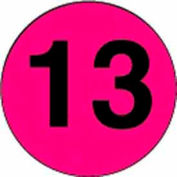 "2"" Dia. Disc With #13 - Fluorescent Pink / Black"