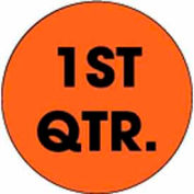 "1st Quarter 2"" Dia. - Fluorescent Orange / Black"