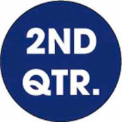 "2nd Quarter 2"" Dia. - Dark Blue / White"