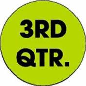 "3rd Quarter 3"" Dia. - Fluorescent Green / Black"