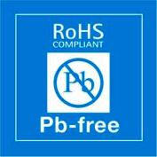 "Pb-Free Rohs 2"" x 2"" - Blue / White"