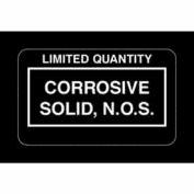 "Corrosive Solid NOS 2-1/4"" x 1-3/8"" - White / Black"