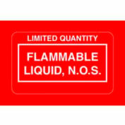 """Flammable Liquid NOS 2-1/4"""" x 1-3/8"""" - Red / White"""