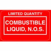 "Combustble Liquid NOS 2-1/4"" x 1-3/8"" - Red / White"