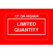 """73° Or Highr Limited Quantity 2-1/4"""" x 1-3/8"""" - Red / White"""