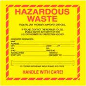 """Hazardous Waste 6"""" x 6"""" - Yellow / Red / Black"""
