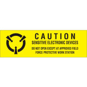 "Caution Sensative Electronics 5/8"" x 2"" - Yellow / Black"