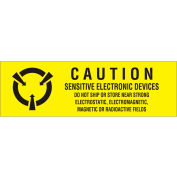 "Caution Sens Electronics 5/8"" x 2"" - Yellow / Black"