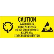 "Caution Electronics Sensative 1"" x 2"" 1/2 - Yellow / Black"