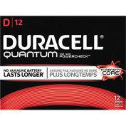 Duracell® QU1300 Quantum Alkaline D Batteries - Pkg Qty 12