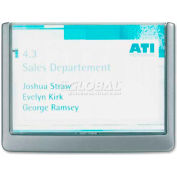 """Durable® Click Signs, 497737, 6-3/4"""" X 5/8"""" X 5-1/8"""", Customizable, Graphite"""