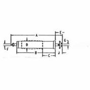 Dumore 805-0066 External Spindle For Diamond Wheels, Series 57, 1.25 Wheel Bore, 15, 000 Max Speed