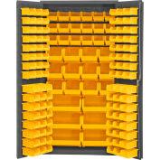 """Durham Storage Bin Cabinet 3501-BDLP-132-95 - 132 Hook-on Bins 36""""W x 24""""D x 72""""H"""