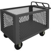 """Durham Mfg.® Steel Mesh Box Truck 4ST-EX-2436-95 - 2000 Lb. Capacity 36""""L x 24""""W x 29-1/2""""H"""