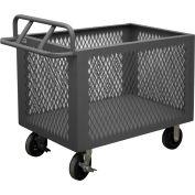 """Durham Mfg.® Steel Mesh Box Truck 4ST-EX-2448-95 - 2000 Lb. Capacity 48""""L x 24""""W x 29-1/2""""H"""